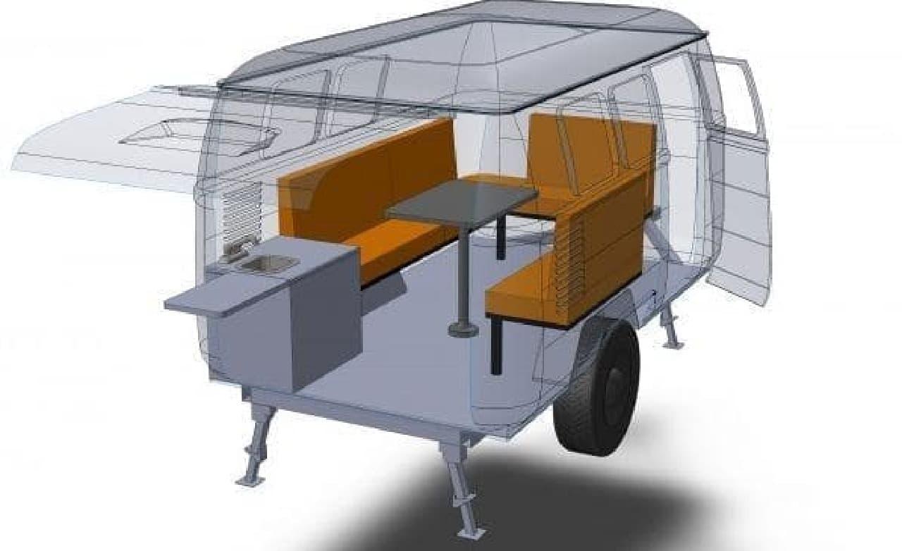 VWバスみたいなキャンパー、DUB BOX「Dinky Dub」