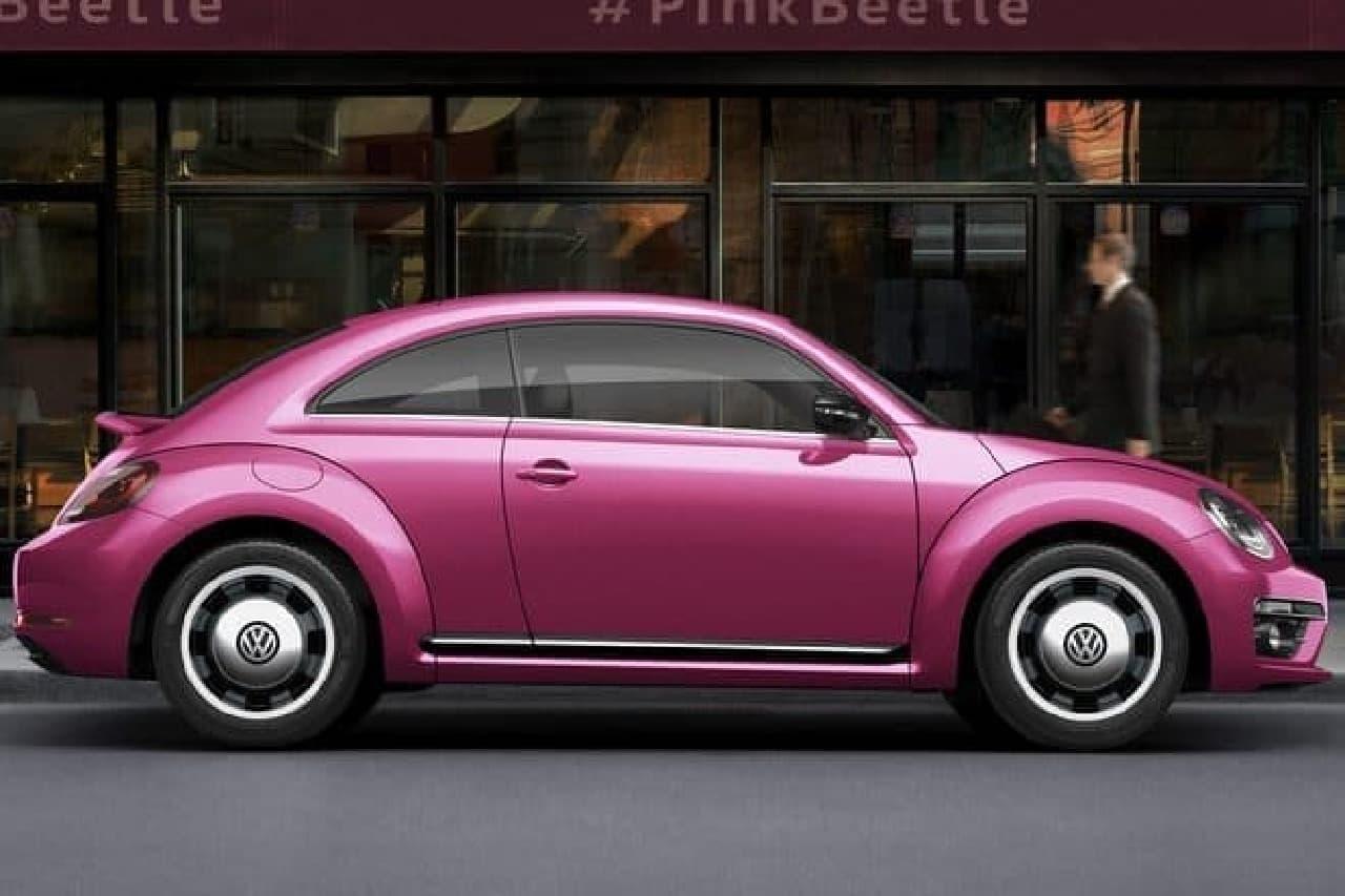 ピンク色のビートル