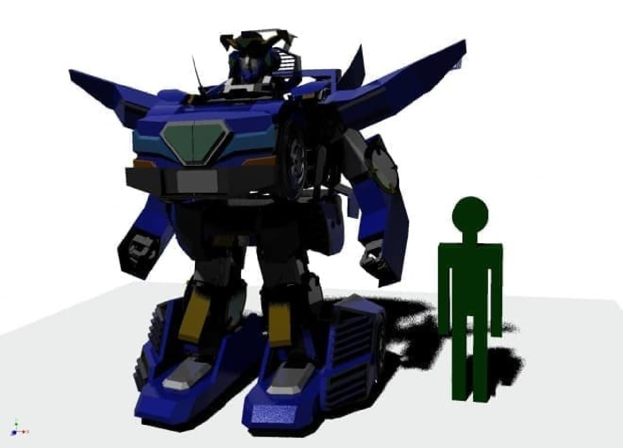 ロボットモードのJ-deite RIDE