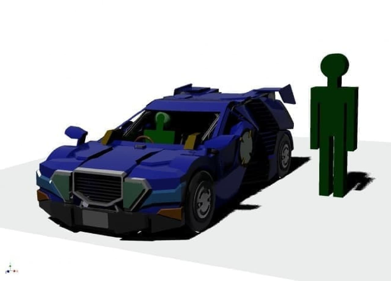ビーグルモードのロボット