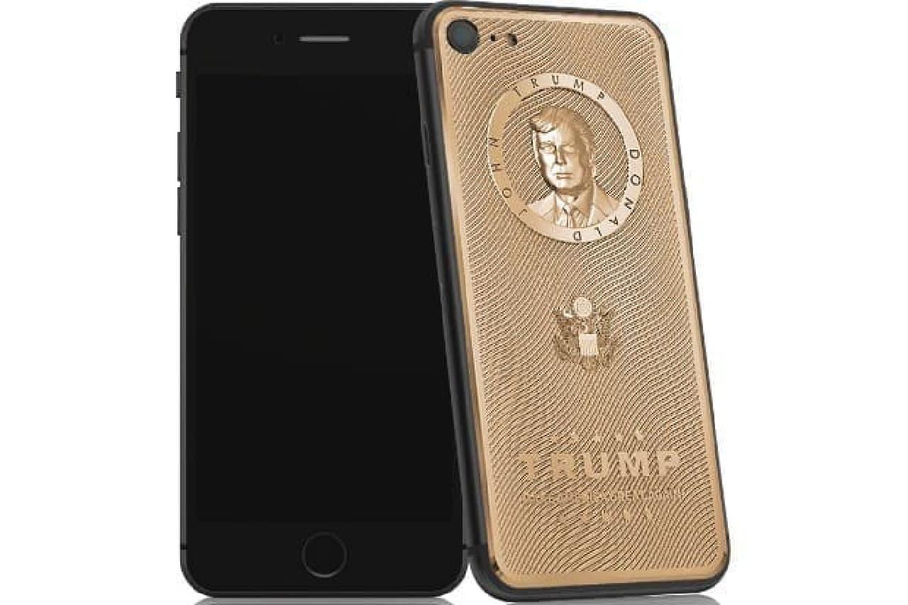 ドナルド・トランプ大統領の肖像入りiPhone