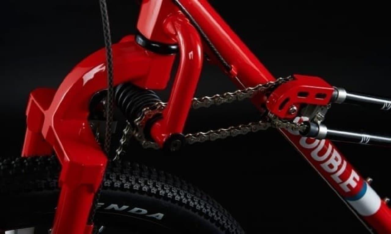 前後輪駆動の自転車「DOUBLE(ダブル)」