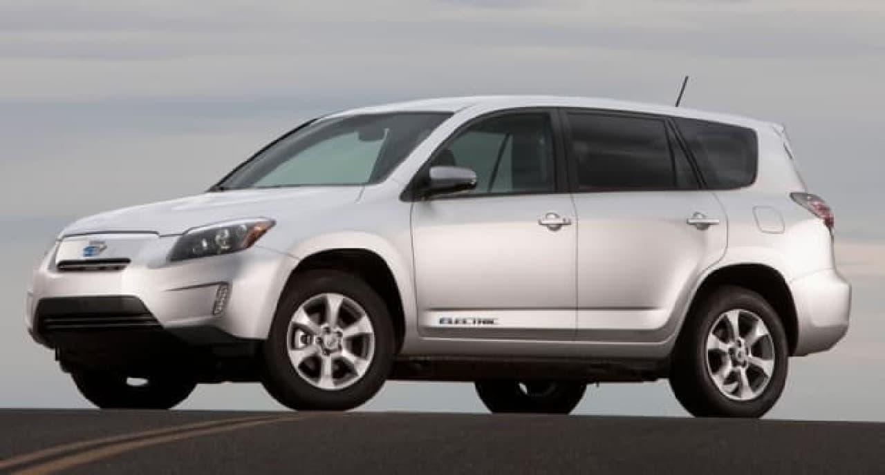 トヨタがテスラと共同開発した電気自動車「RAV4 EV」