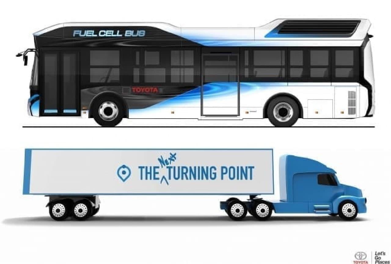 燃料電池技術を採用したバスとトラック
