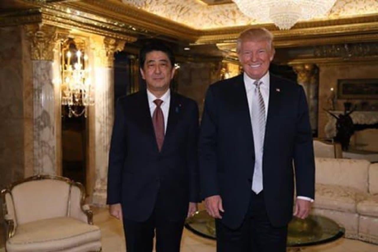 安倍首相とトランプ氏のツーショット