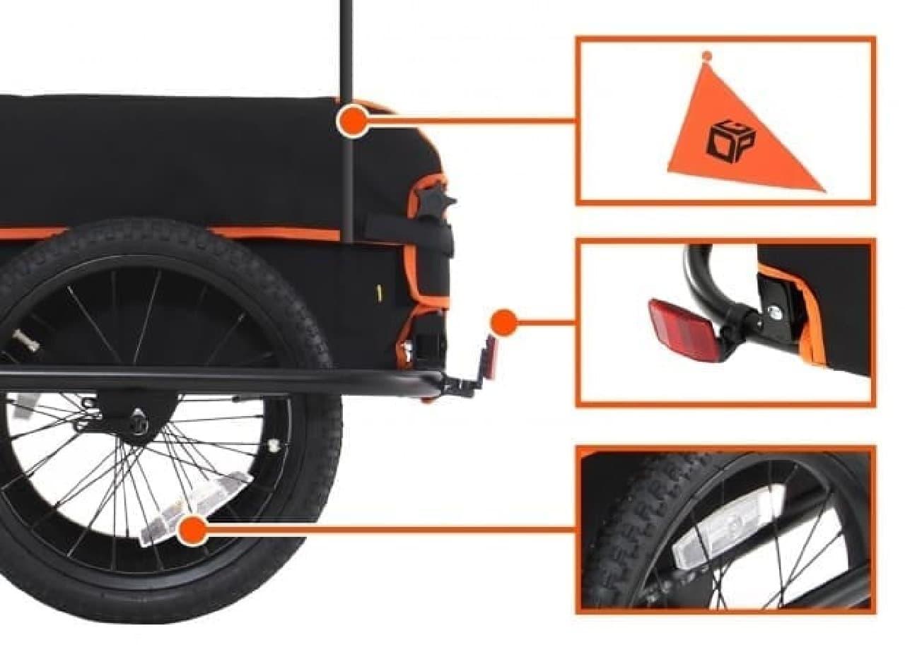100リットルの容量を持つ「サイクルトレーラー」