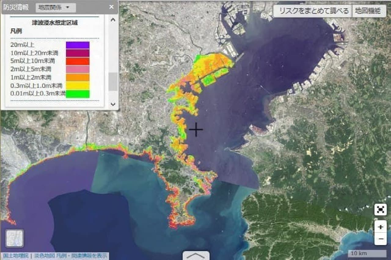 川崎市周辺のハザードマップ