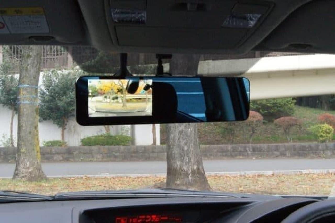ドライブレコーダーの設置イメージ