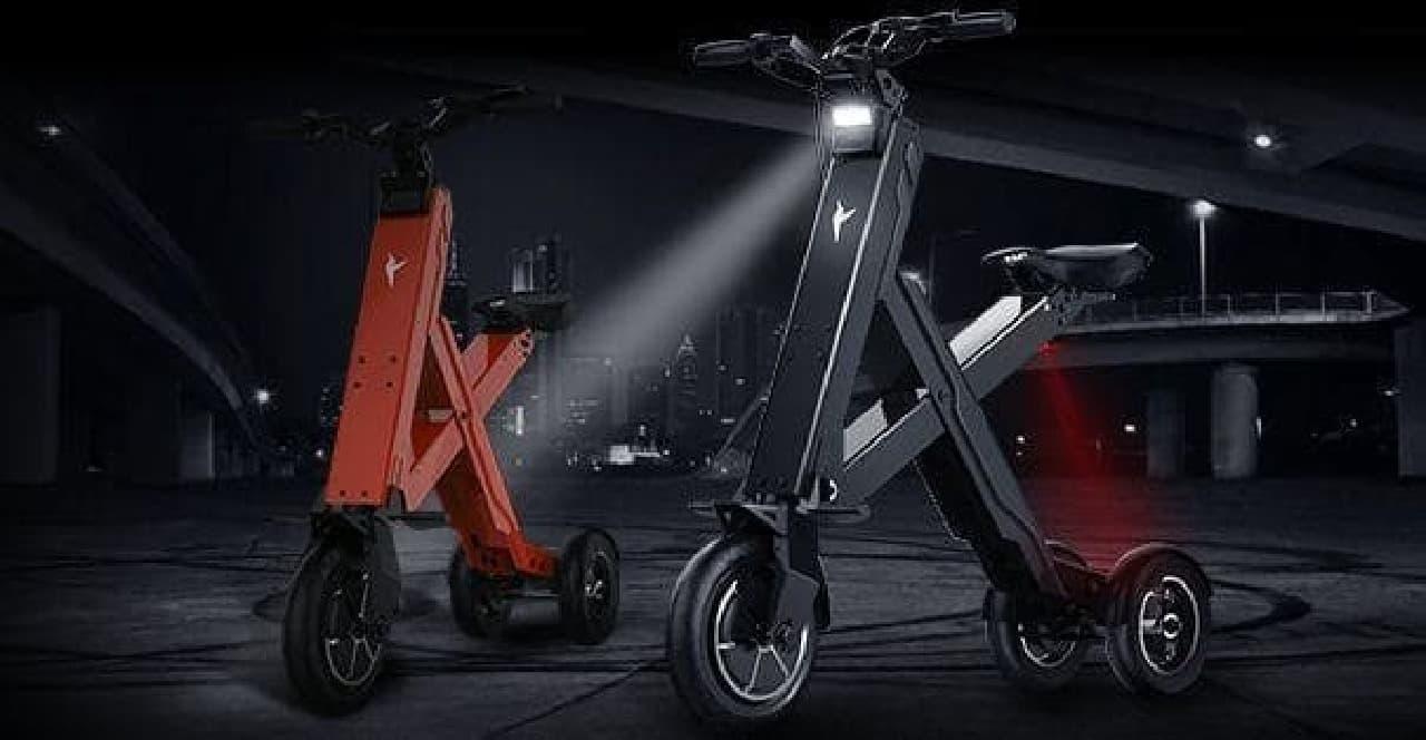 1秒で折り畳める電動バイク「Xcape」