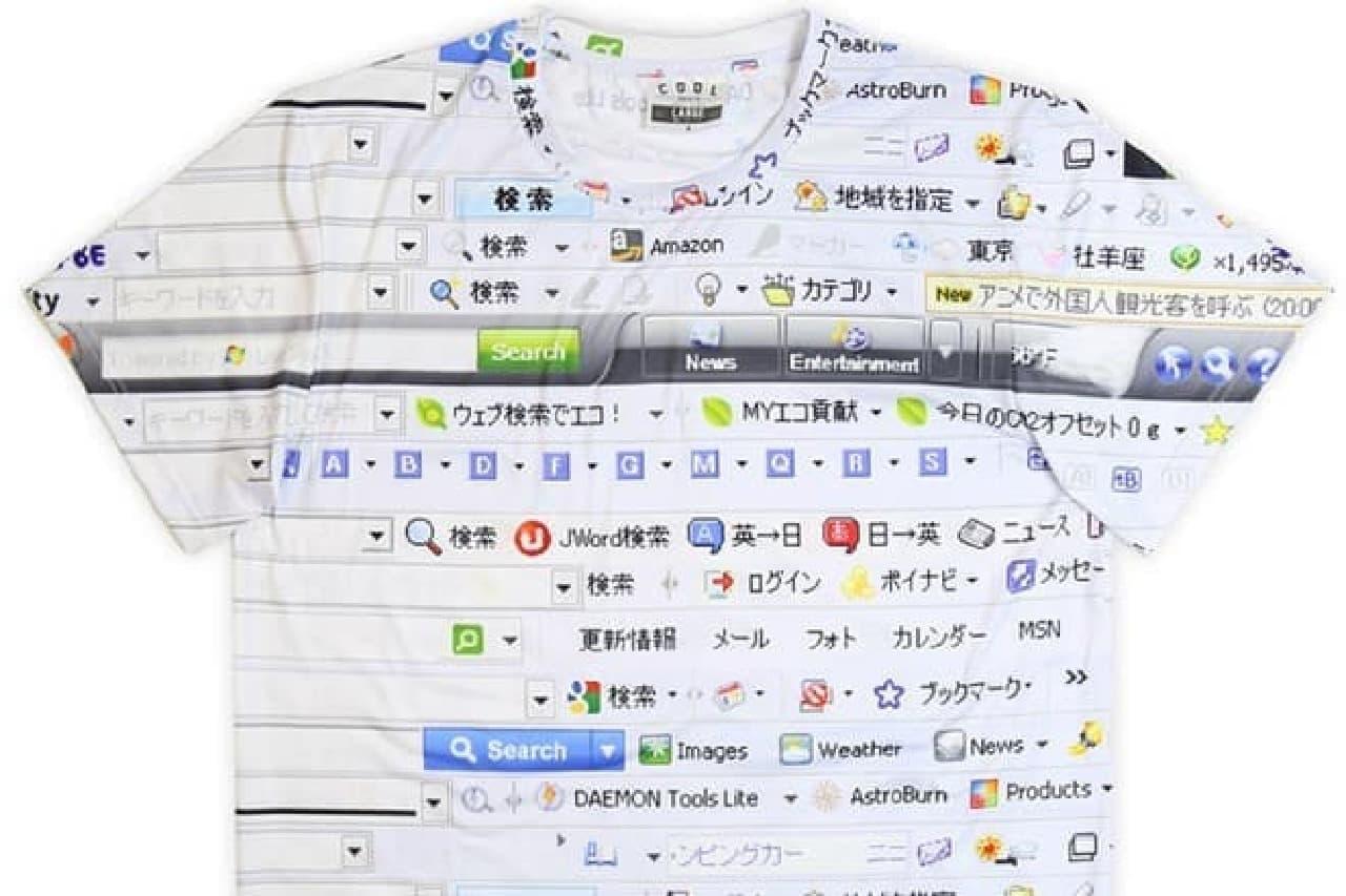 IE6柄のTシャツ画像