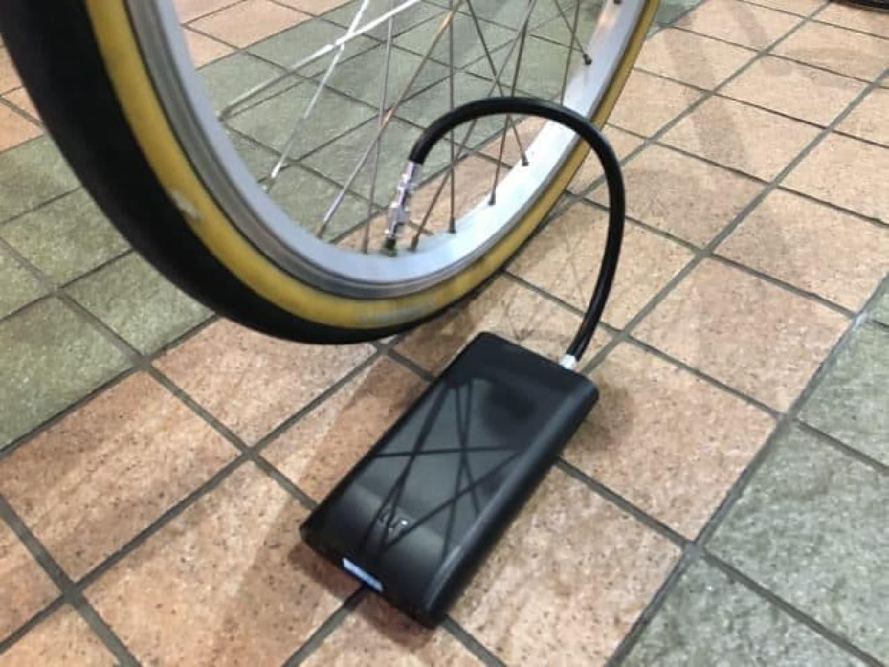 ポケットに入る自転車用電動空気入れ「Smart Air Pump M1」
