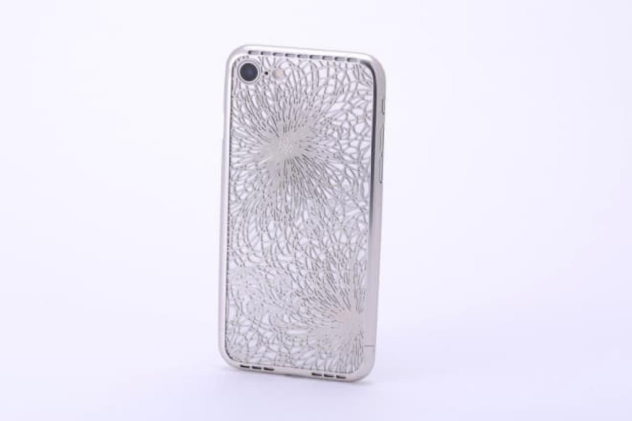 イトギク模様のiPhone 7ケース