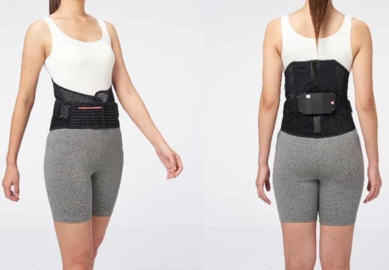 腰の負担を可視化するウェア