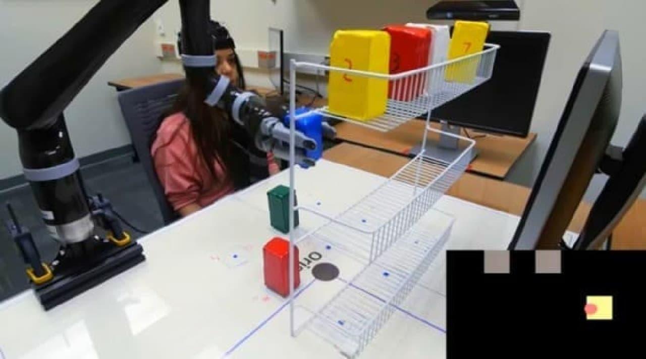 頭で考えた通りに、ロボットアームが動く…ミネソタ大学の研究者が実験に成功