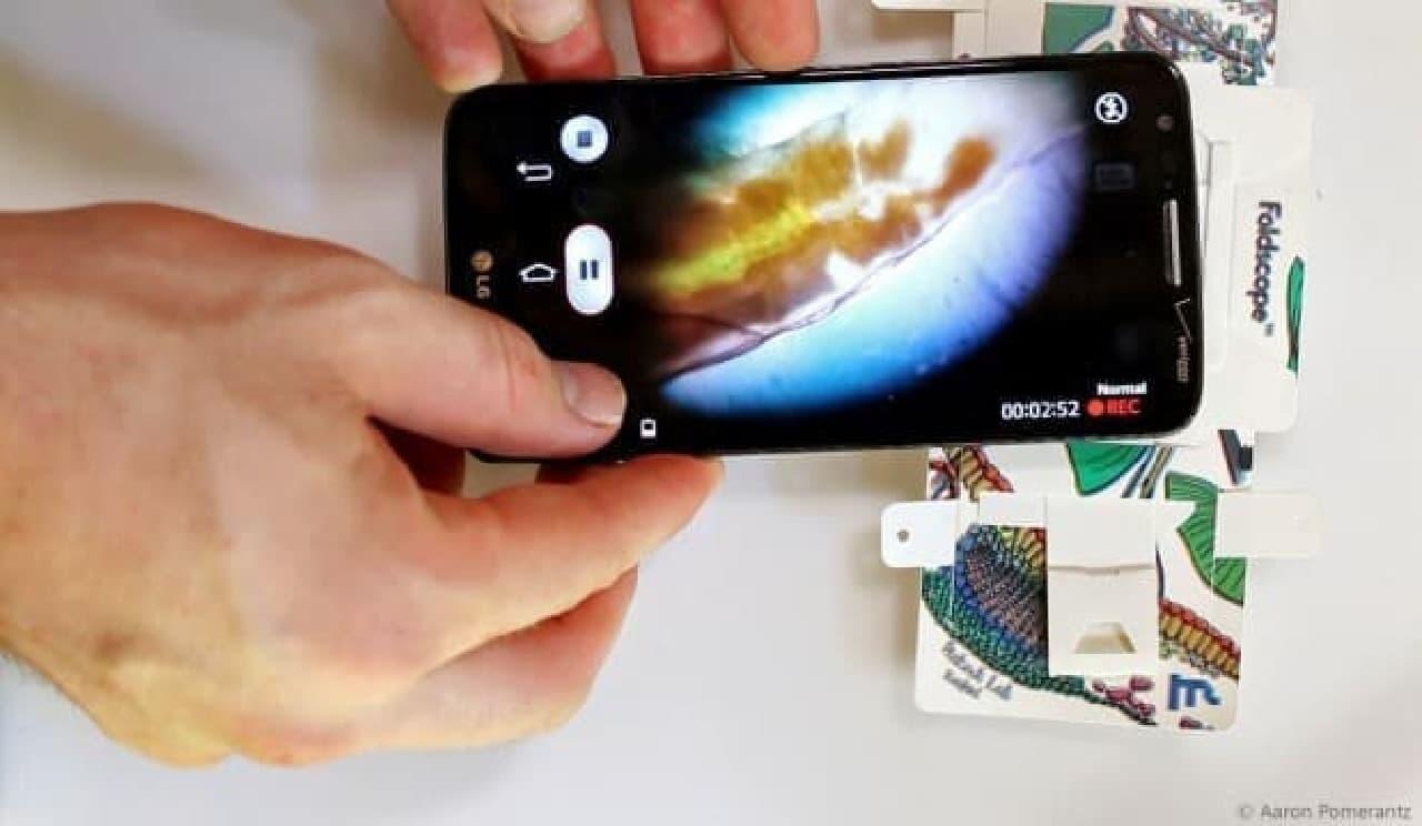 折り紙顕微鏡「Foldscope」-紙製ながら倍率140倍