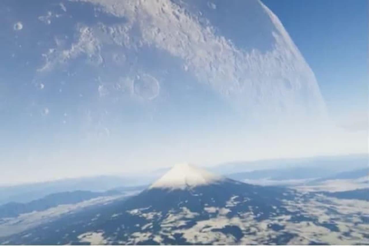日本海に原寸大の月を置くとどうなるか