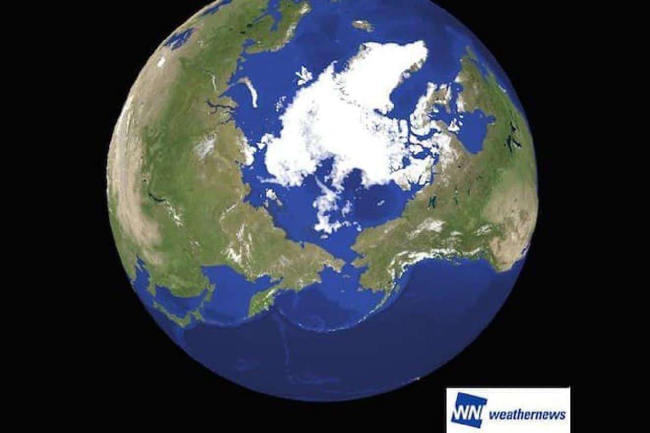 北極圏の海氷イメージ