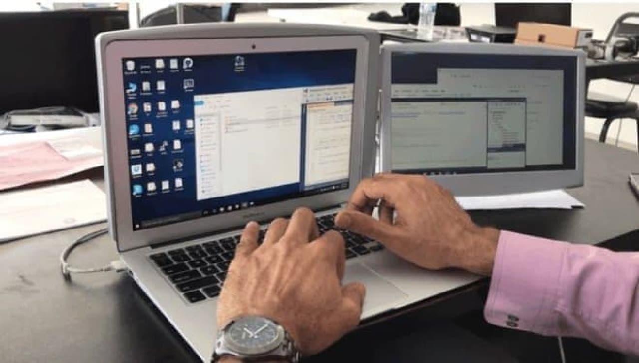 ノートPCをデュアルモニター化する「Expanda」