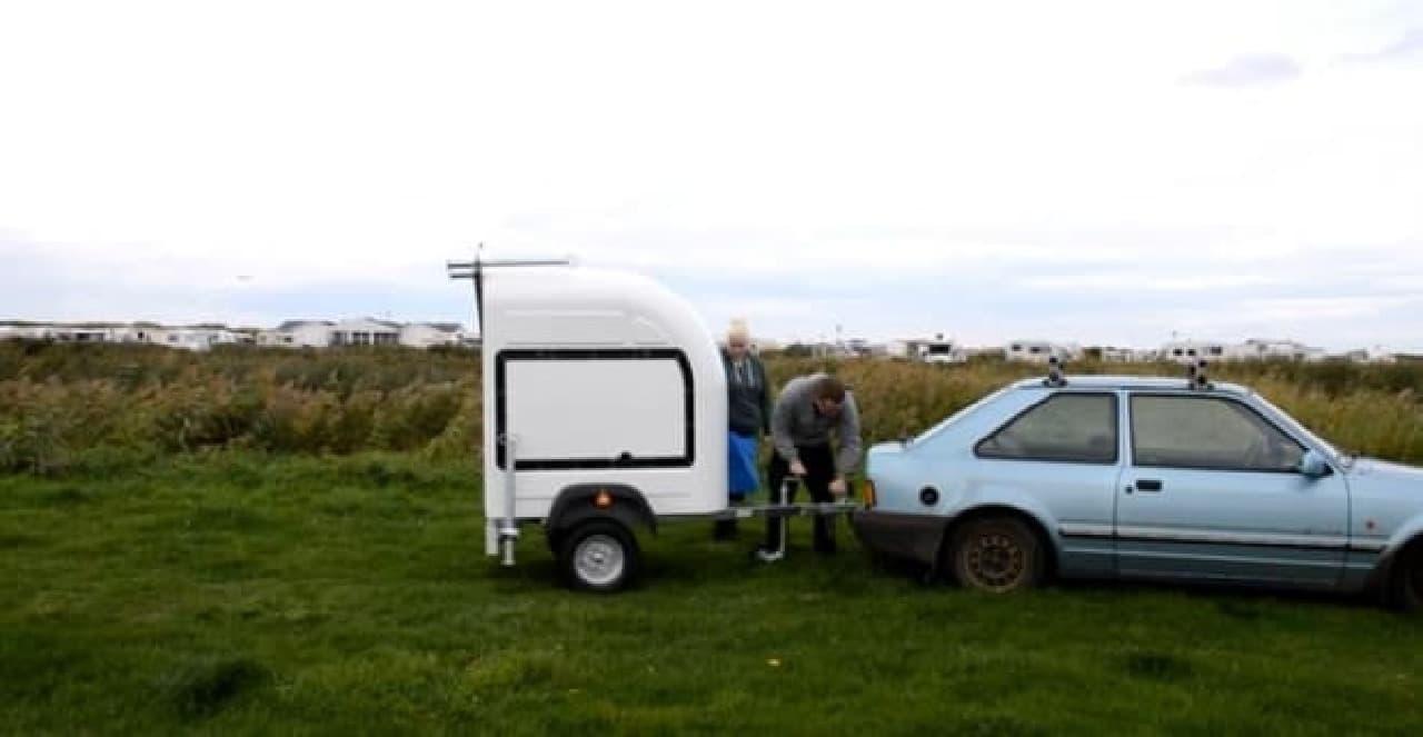 自転車用キャンピングカー「Wide Path Camper」に、クルマで牽引する「Homie」登場