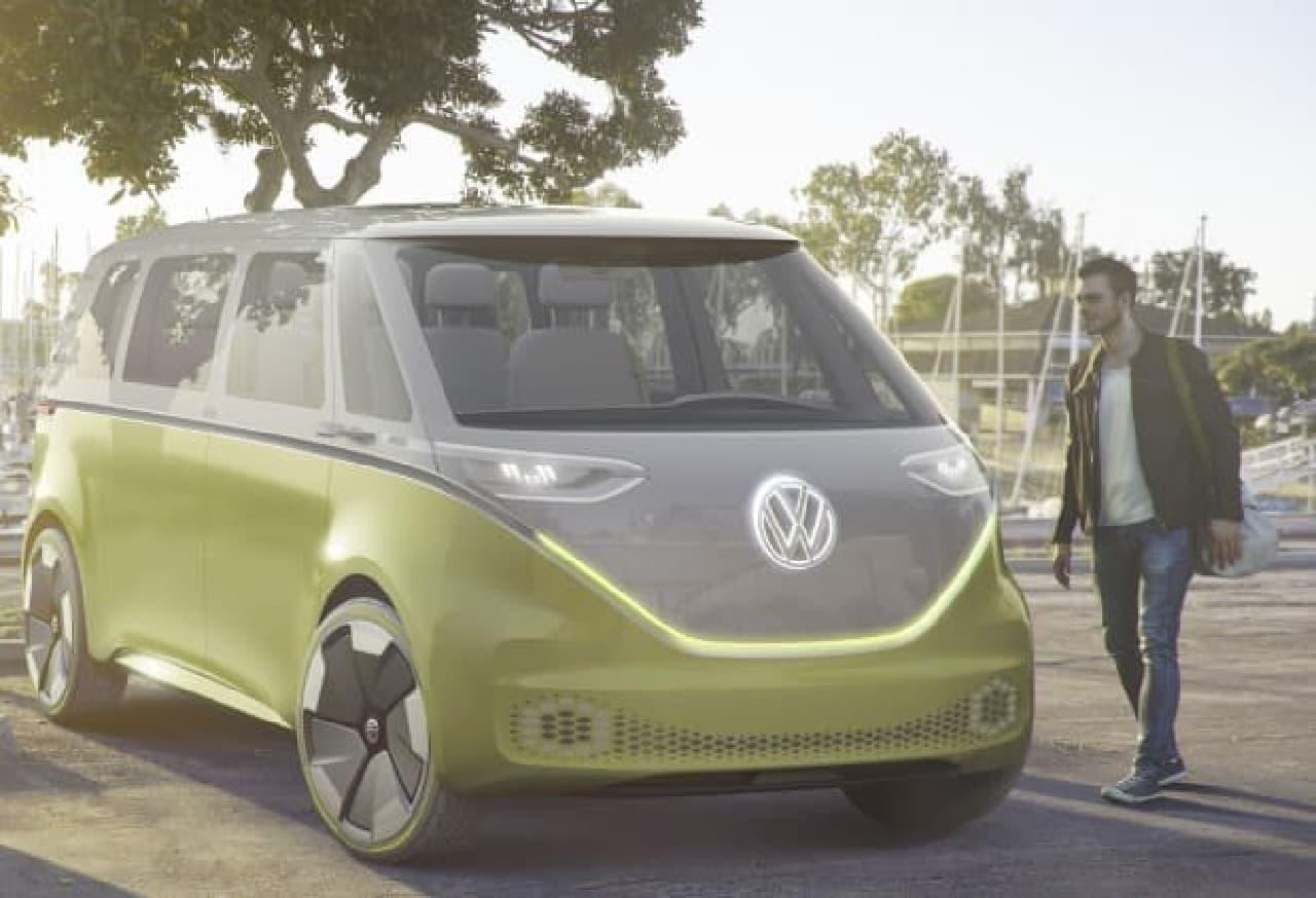 VWバスの正統な後継車になるか?…コンセプトカー「I.D. BUZZ」