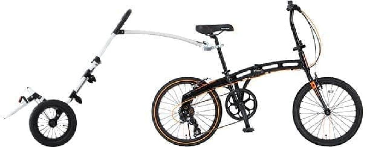 手軽に取り付けられる「モバイルサイクルトレーラー」