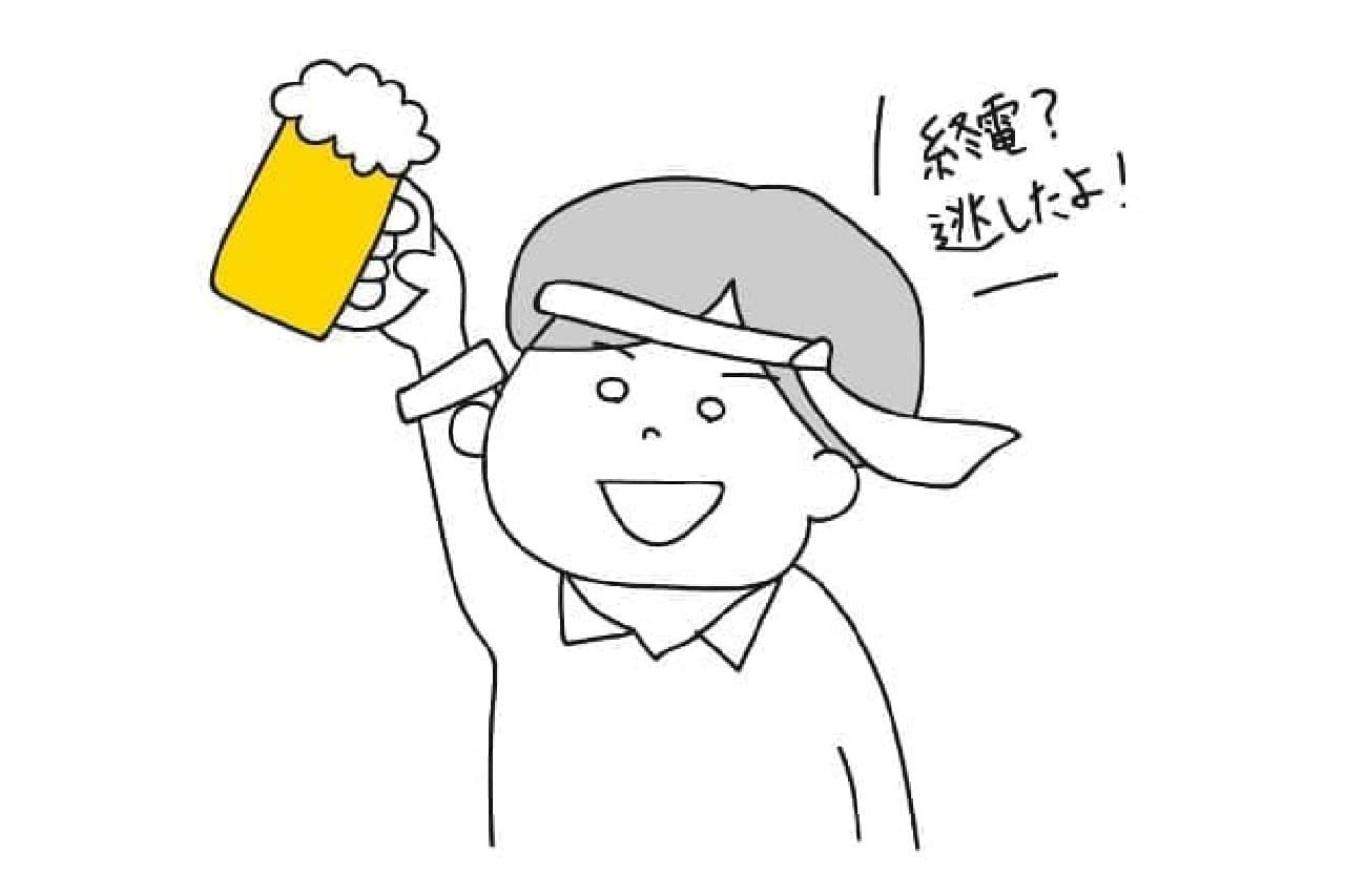 駅すぱぁとの始発案内イメージ