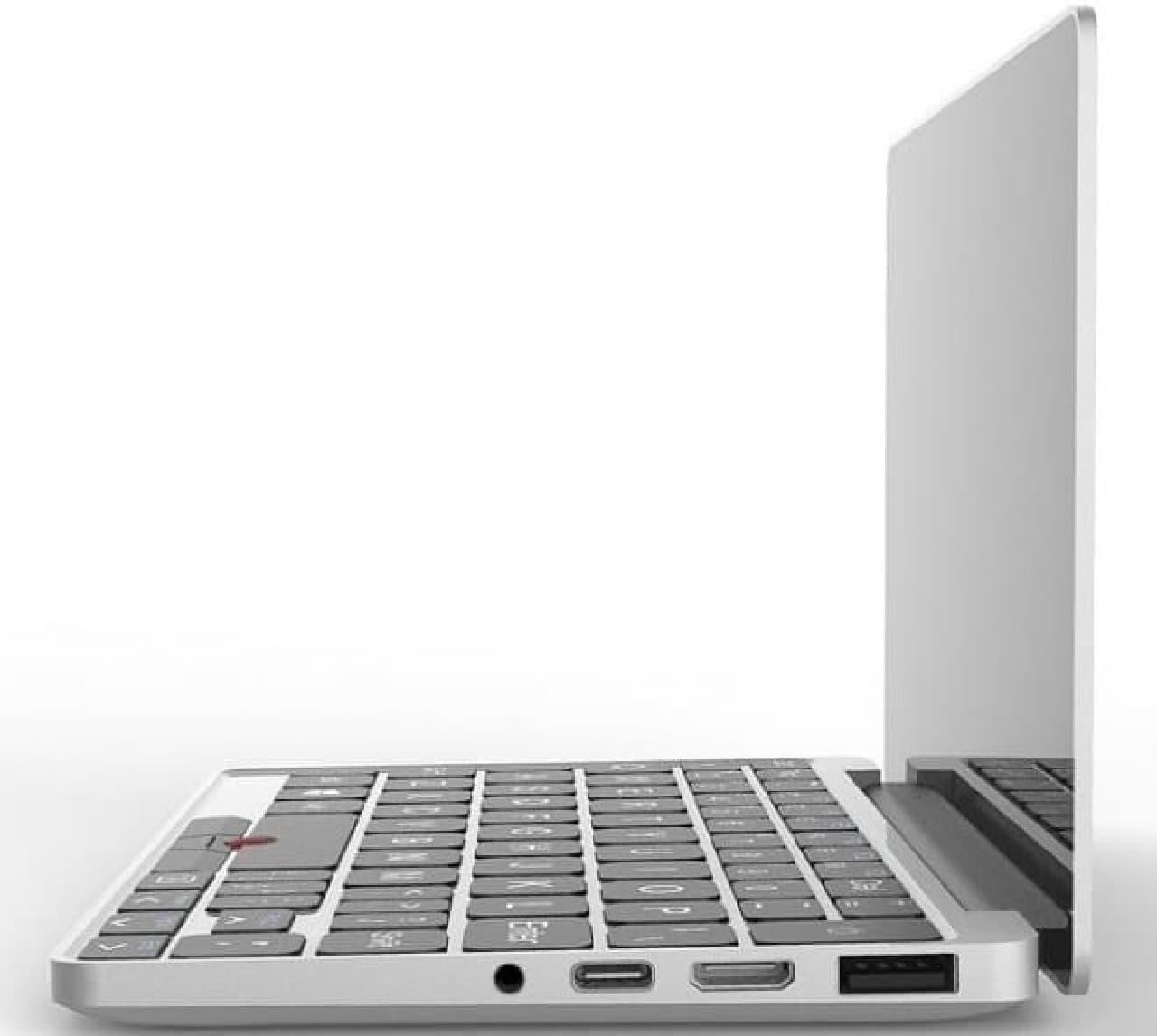 ポケットに入る7インチ画面のWindows 10PC、予約受付開始