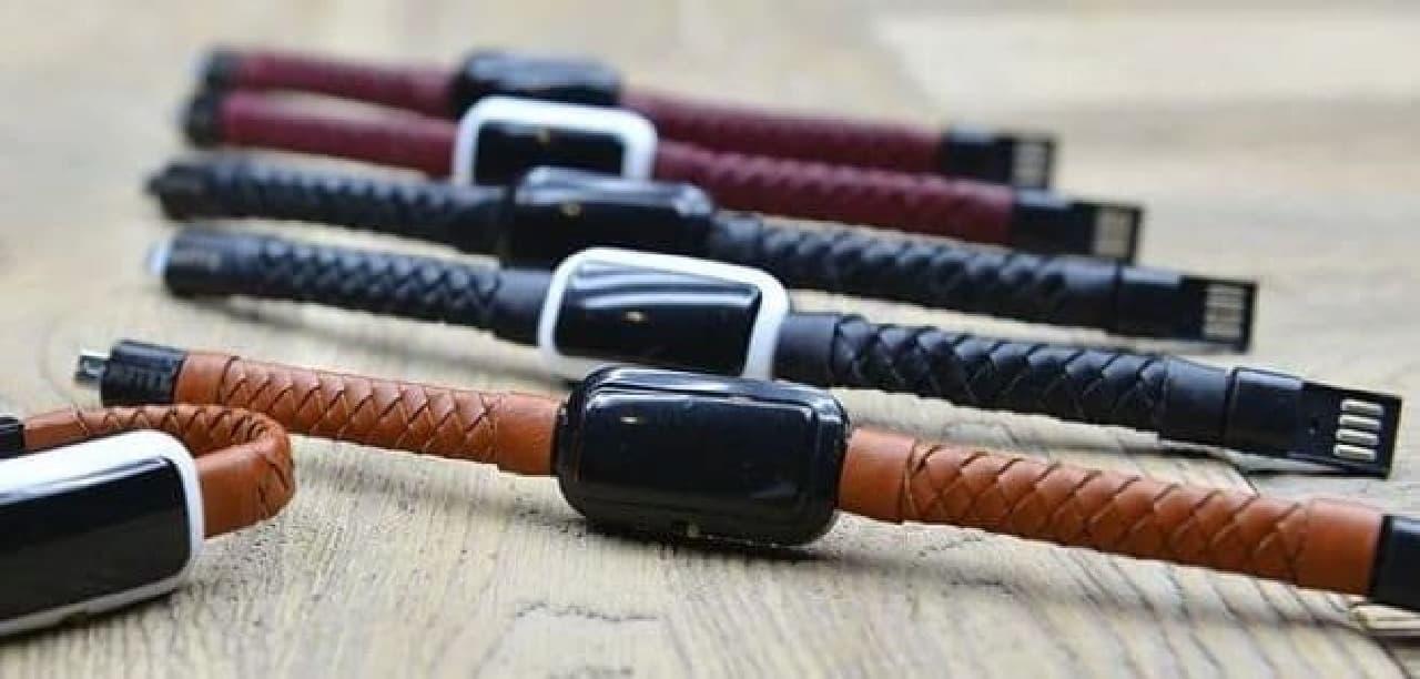 ブレスレット型のモバイルバッテリー「NIFTYX LifeSaving Bracelet」