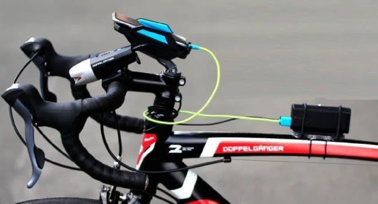 自転車のデッドスペースを収納スペースに変える「マルチユースサイクルマウント」