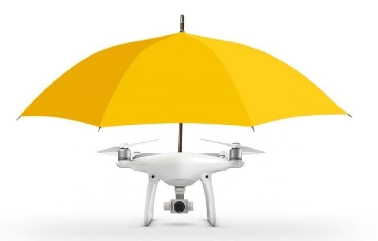 ハンズフリーで使える傘ドローン「DJI Phantom 4」
