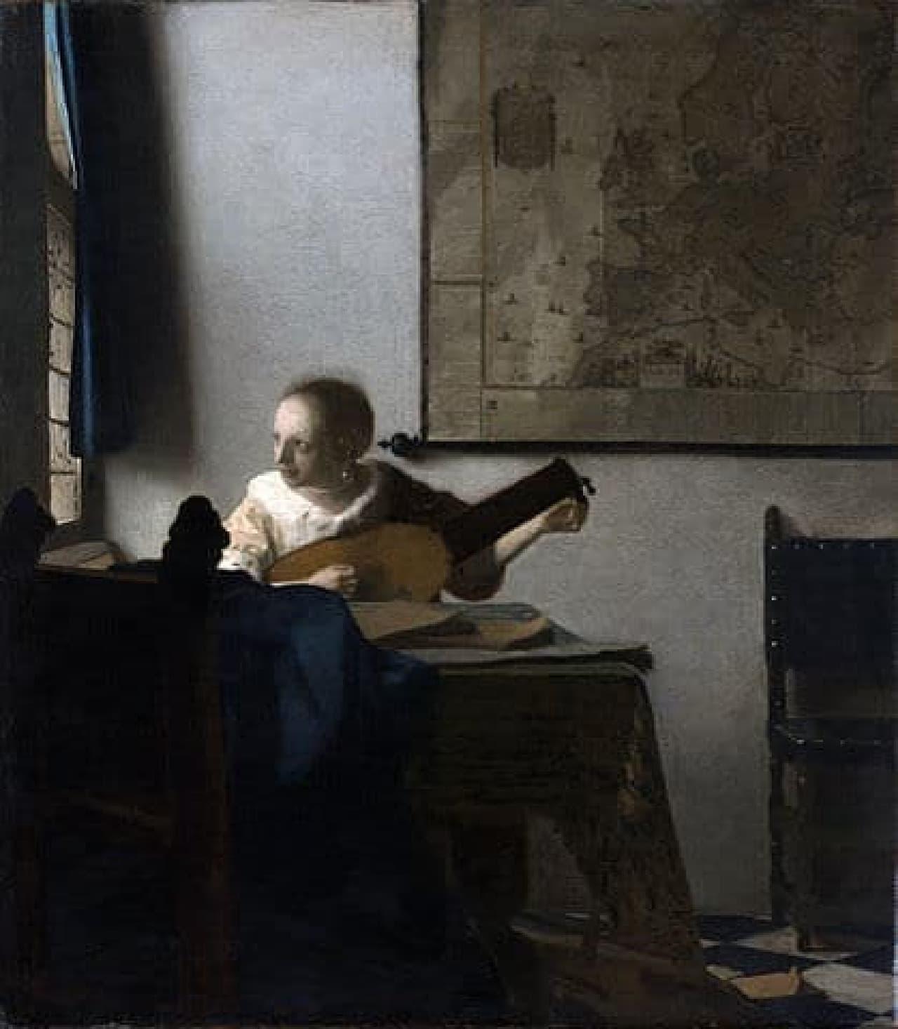 「リュートを調弦する女」のイメージ