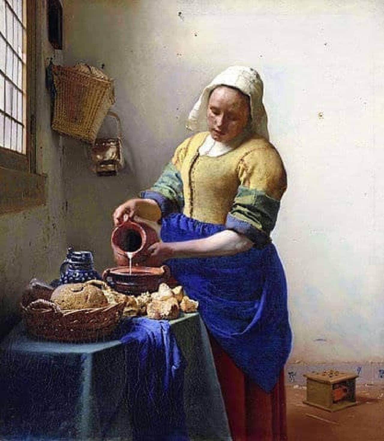 「牛乳を注ぐ女」イメージ