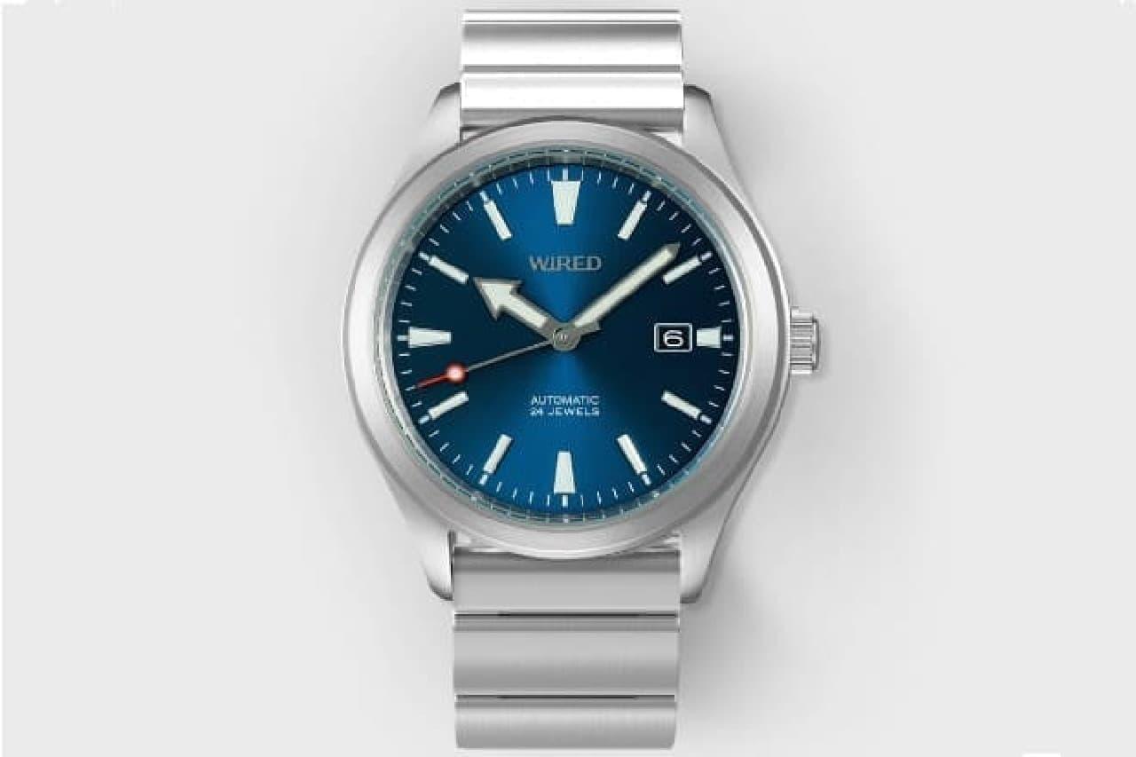 電子マネーのついた機械式腕時計