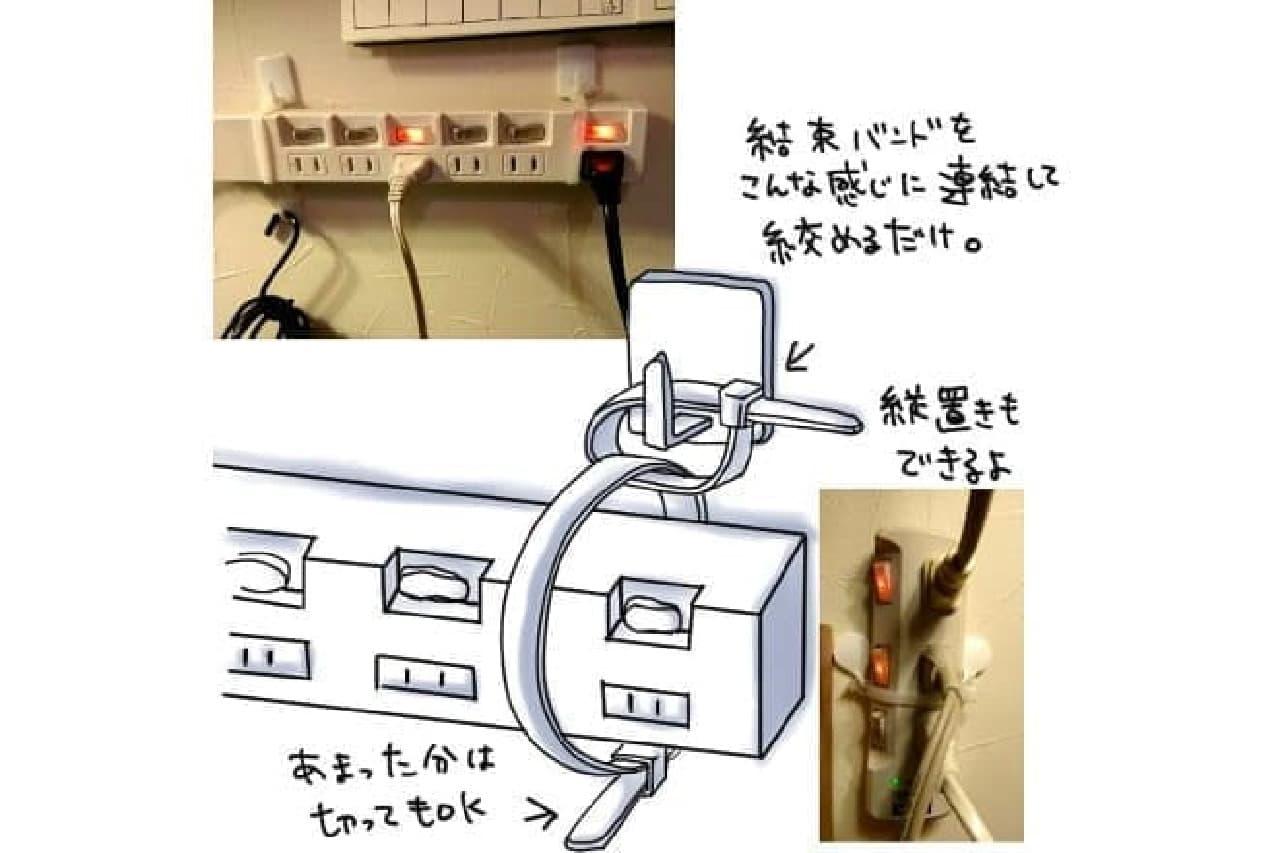 電源タップのイラスト