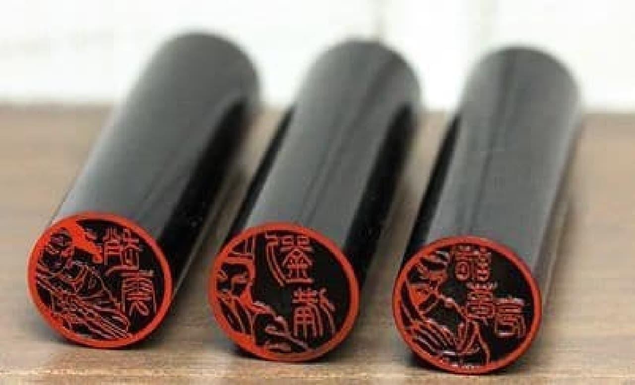 三国志の武将たちを彫刻した「三国志図鑑」