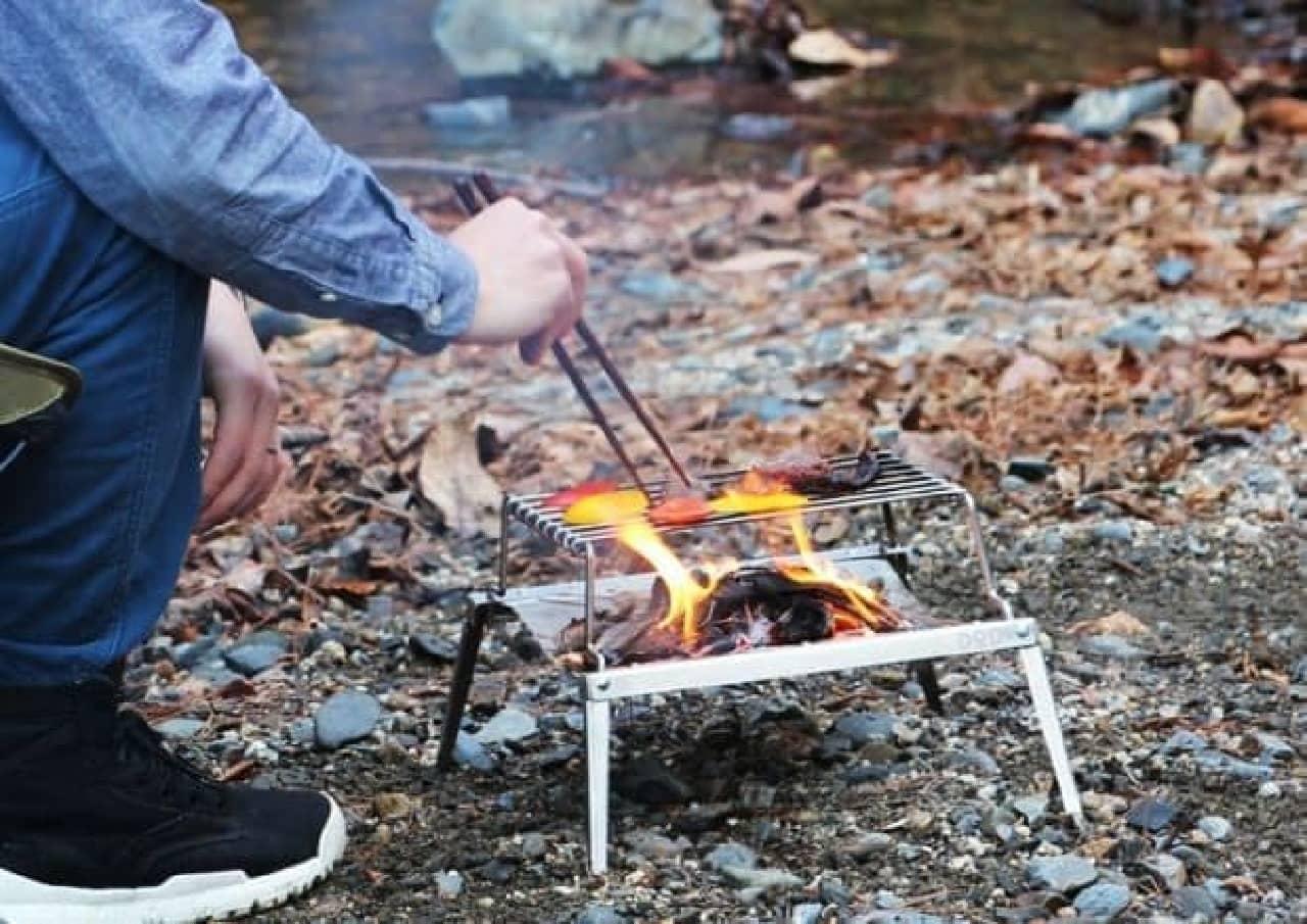 一人バーベキュー&たき火ができる「秘密のグリルちゃん」