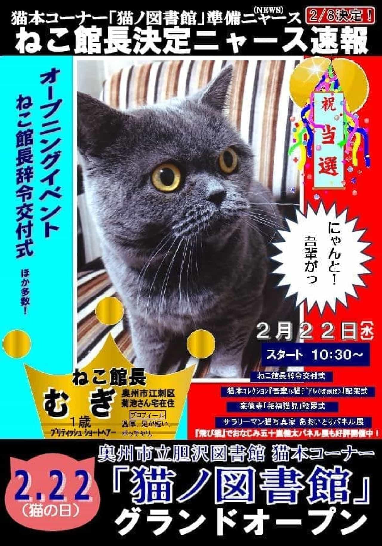 「猫ノ図書館」、2月22日オープン