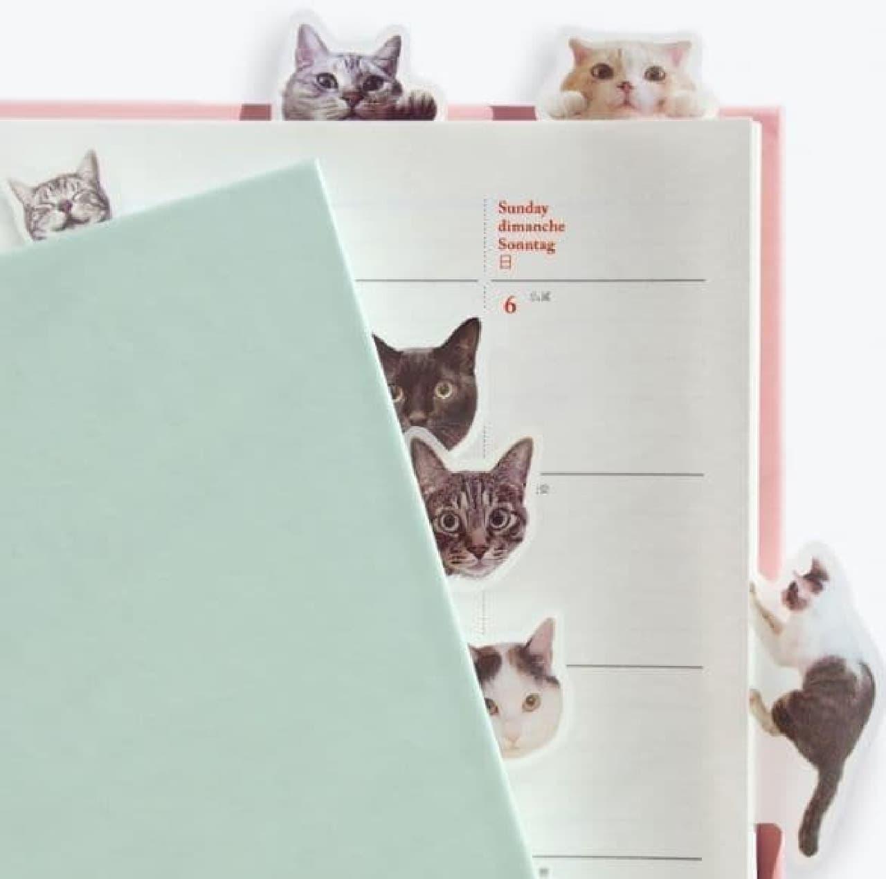 「ノートで遊ぶ猫ふせん、<パート2>」、フェリシモ猫部から