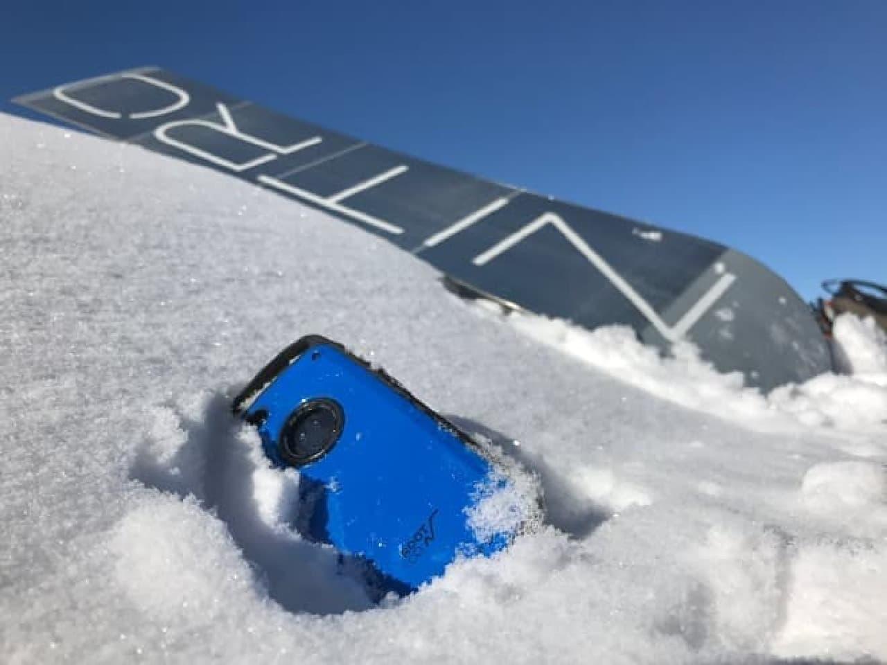 雪没したiPhone 7