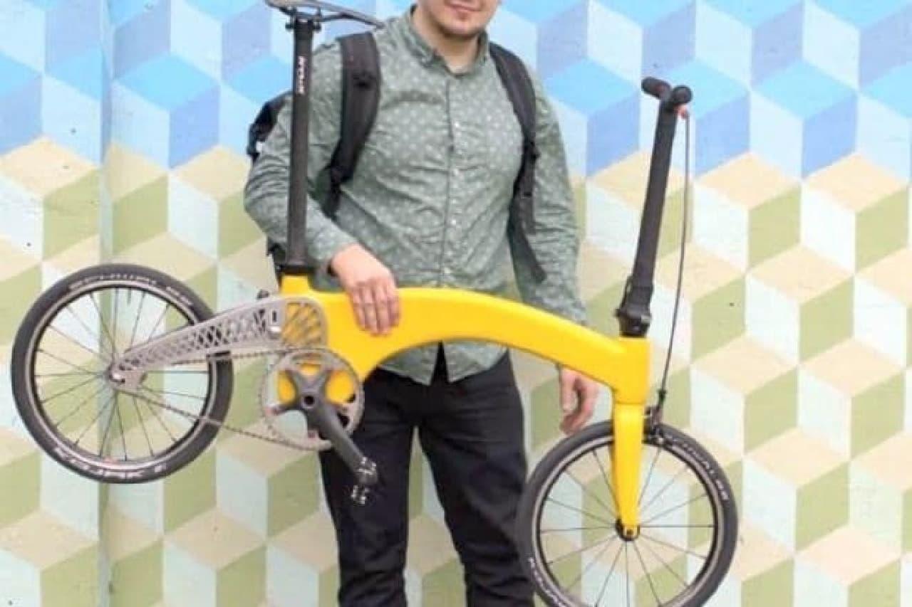 ネコ2匹分の折り畳み自転車「HUMMINGBIRD(ハチドリ)」