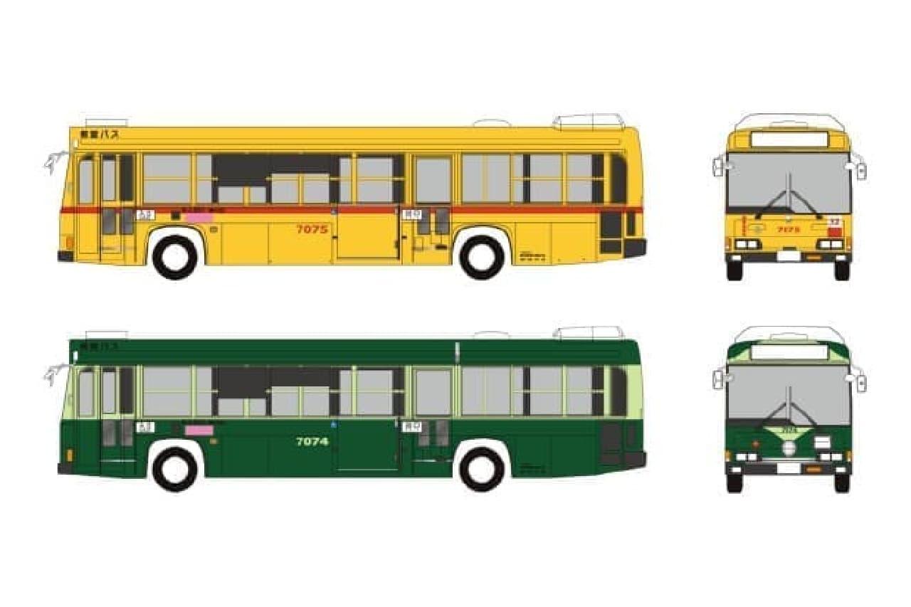 都電7000形のバス