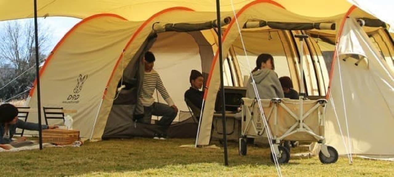 かまぼこ型テントの2017年バージョン「カマボコテント2」