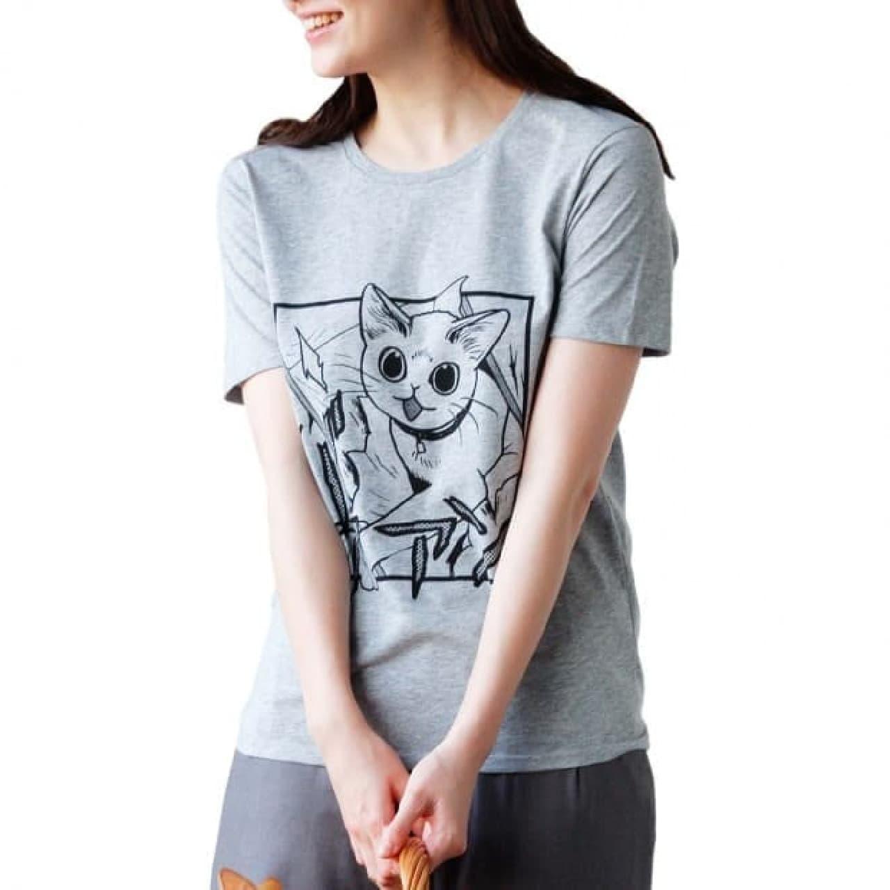 「猫好き猛アピールTシャツ」のWeb販売開始 山野りんりんさんの描くネコは、やっぱりカワイイ!
