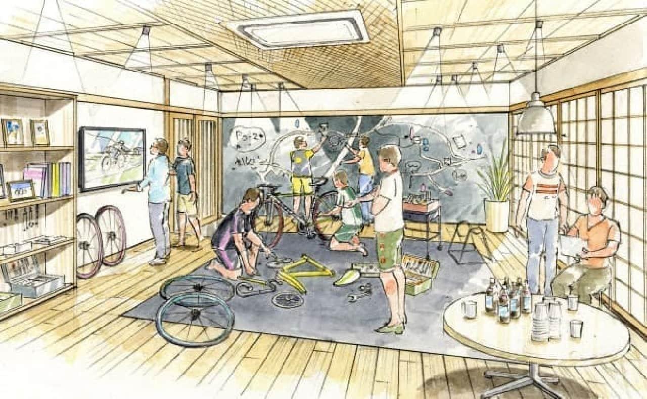 自転車乗り向けのソーシャルアパートメント「ドミール花小金井Pedal(ペダル)」