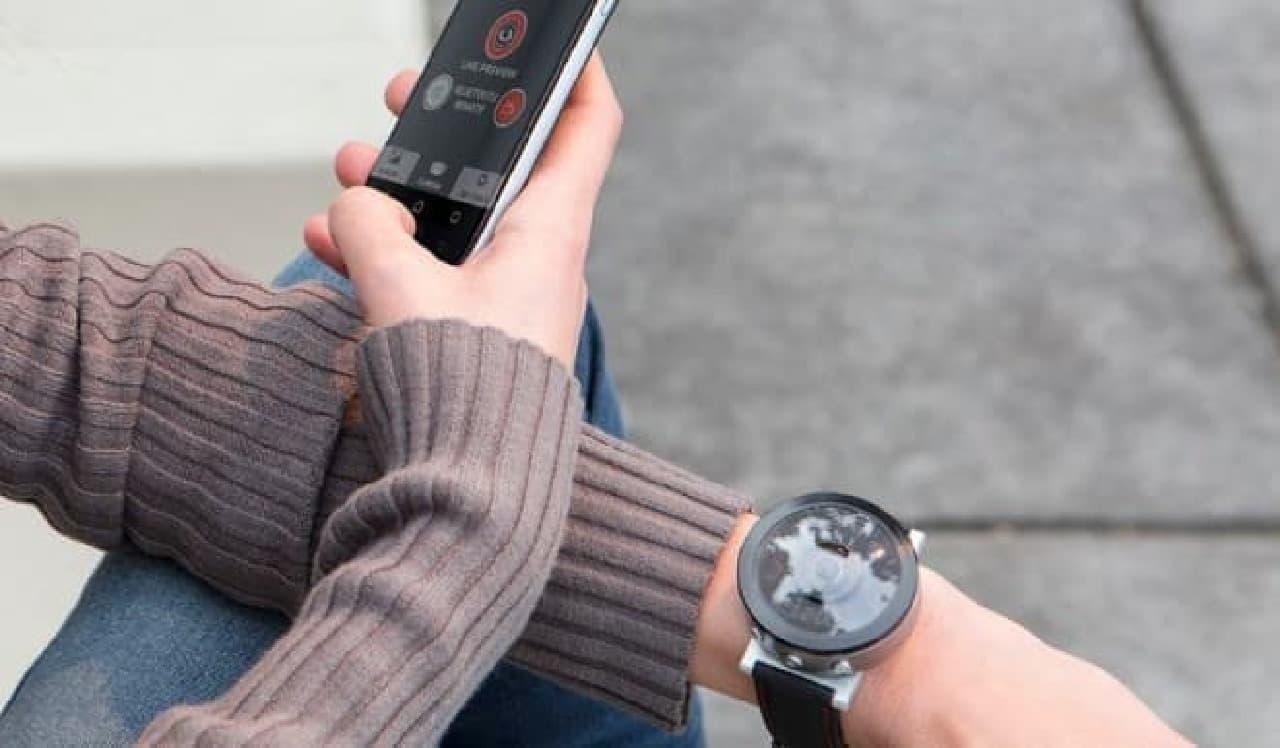 360度写真を手軽に撮影できる腕時計タイプカメラ「Beoncam」