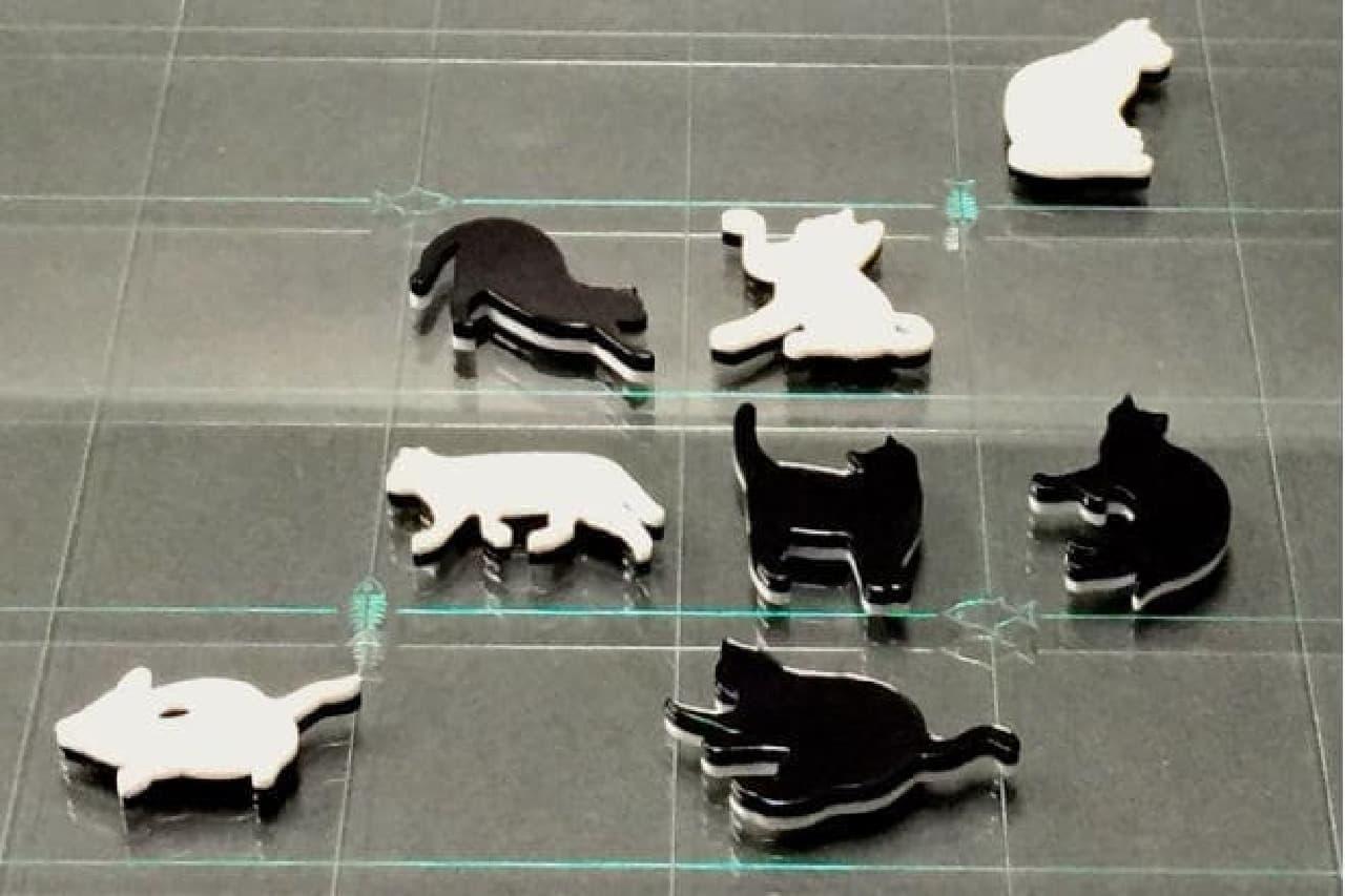 白猫と黒猫のオセロの並べ方