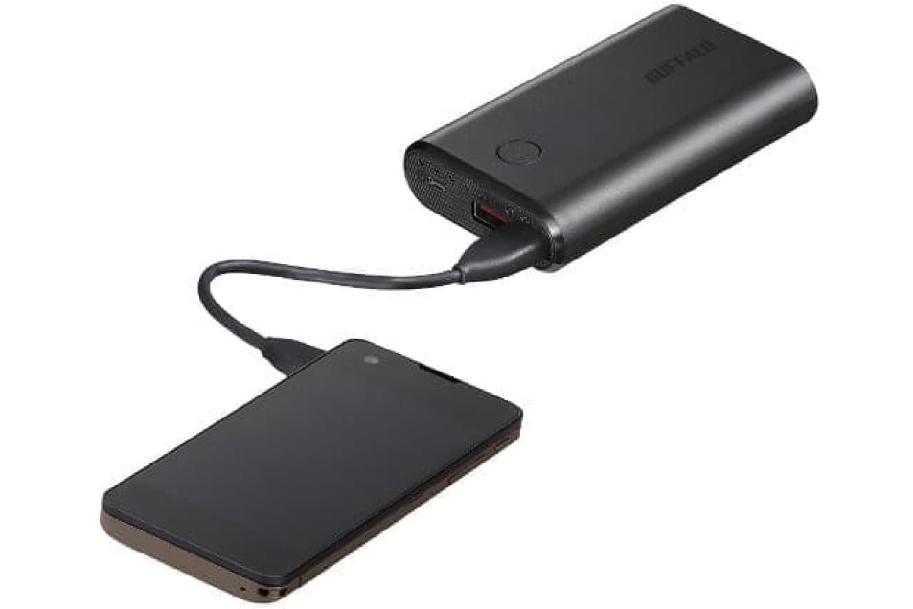バッファローのモバイルバッテリー