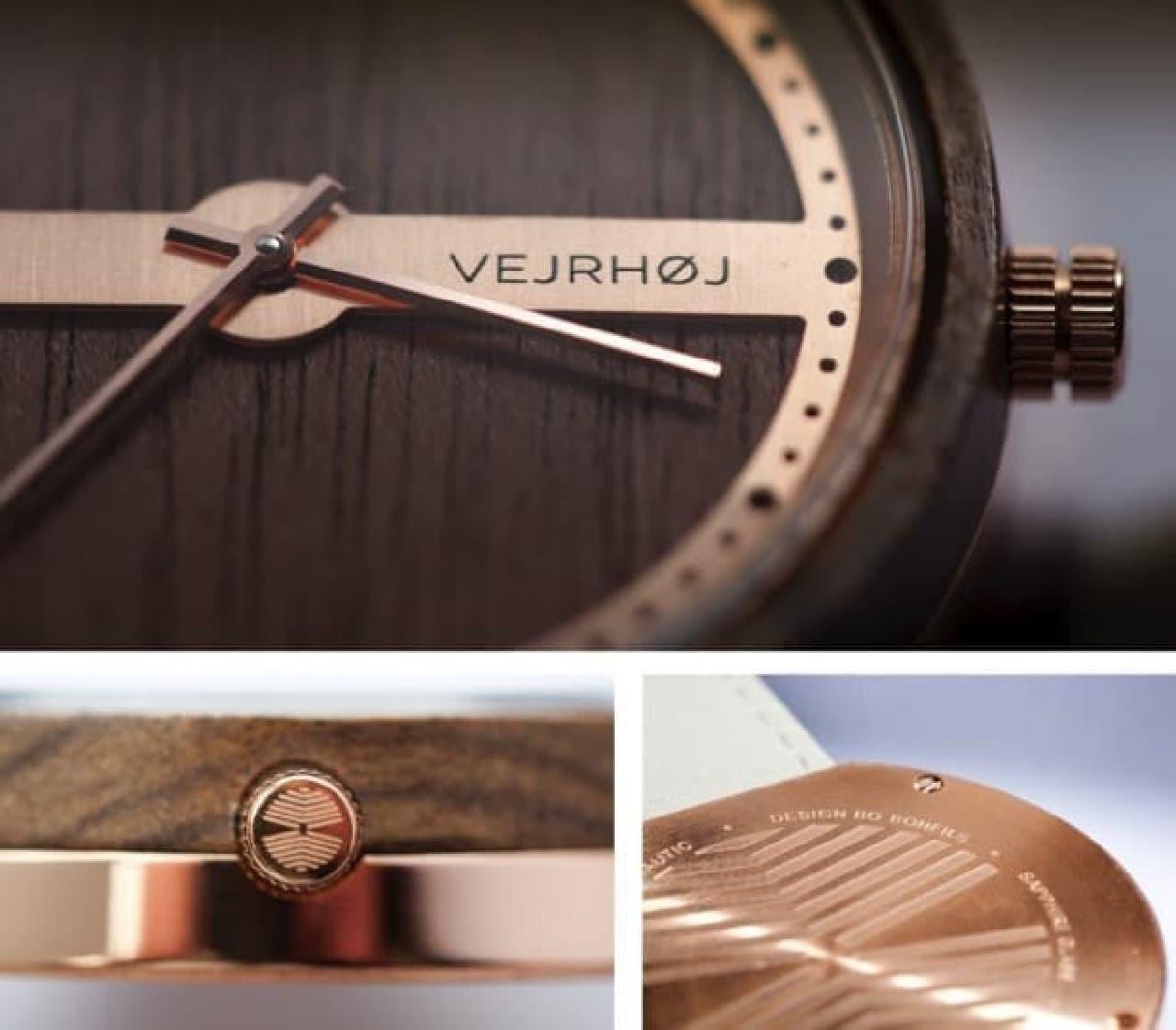 木製腕時計のデザイン