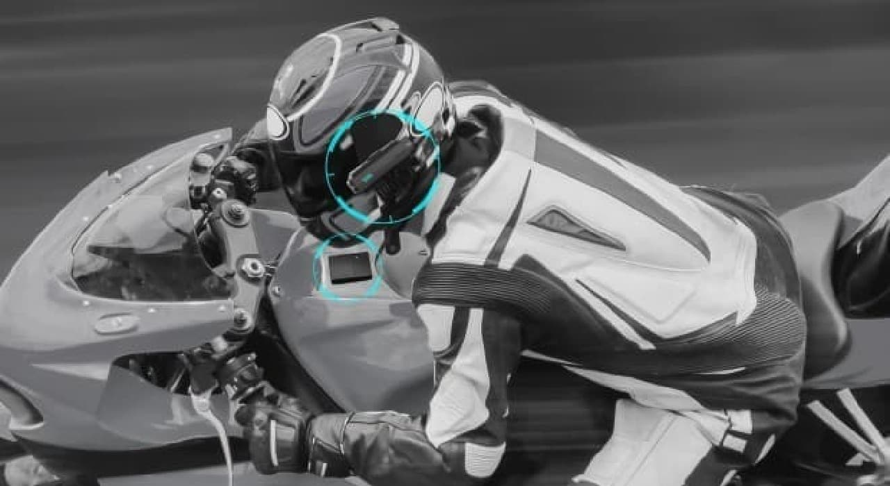 ヘルメットに装着するスポーツカメラ