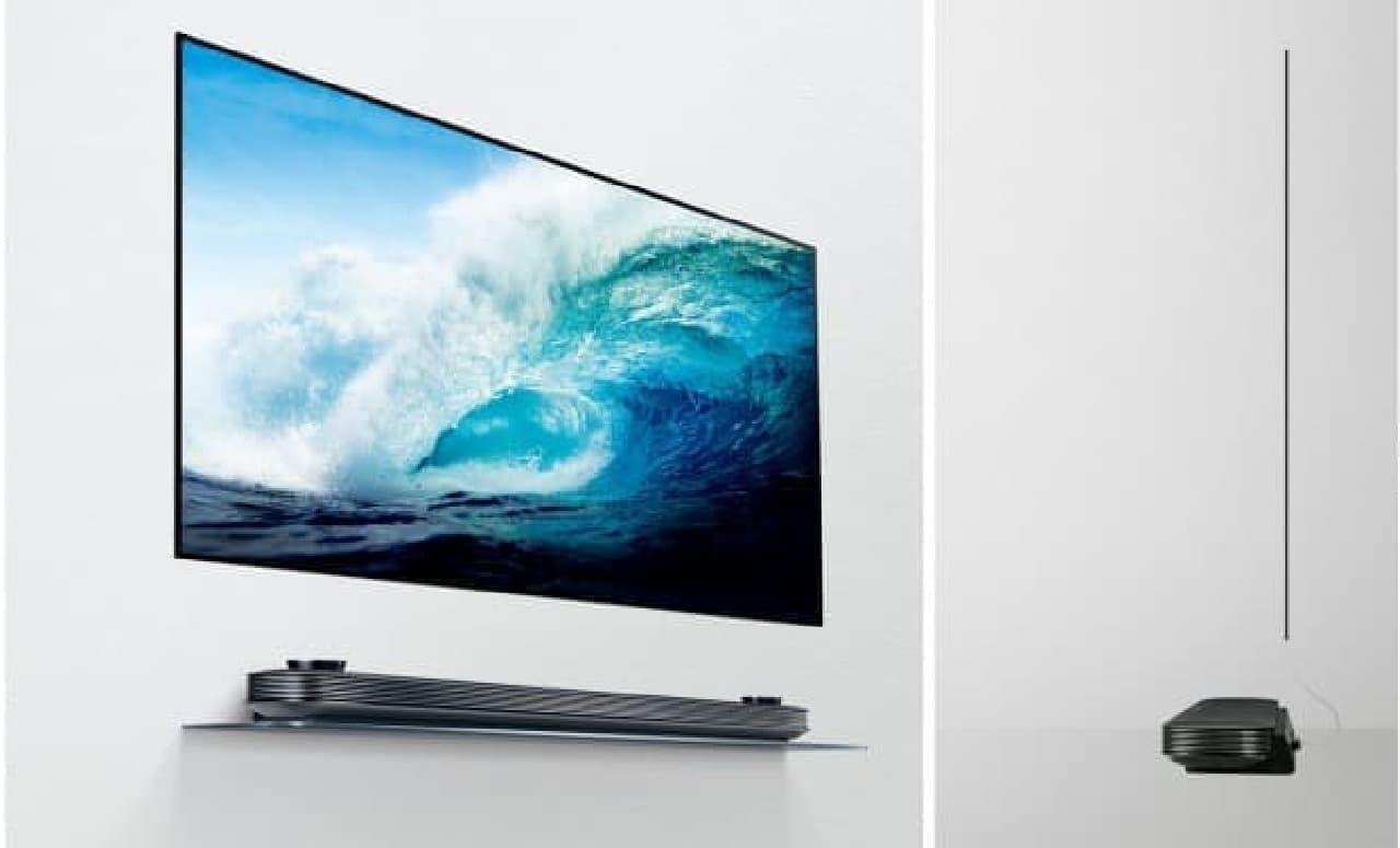 壁に貼りつくような薄型テレビ
